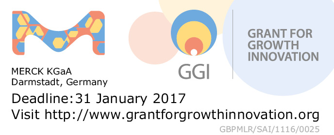 Grant for Growth Innovation 2017, application deadline 31 January 2017